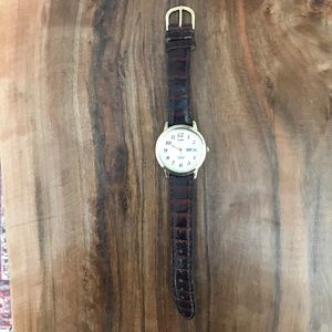 Timex Gold and Tortoise Shell Watch